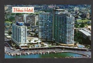 HI Aerial Ilikai Hotel Yacht Harbor HONOLULU HAWAI PC