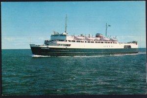 M.V.S. ABEGWEIT Ice Breaker Ferry Passenger NB to PEI pmV111 Chrome 1950s-1970s