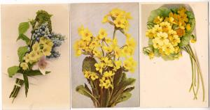 3 - Cards with Yellow Flowers