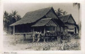 Malaysia, Malaya  Malay House
