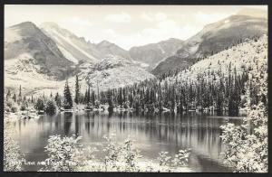 Bear Lake & Longs Peak Colorado RPPC Unused c1930s
