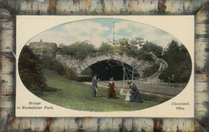 CLEVELAND, Ohio, 1900-10s; Bridge at Rockefeller Park