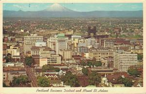 USA - Portland Business District and Mount St. Helens 01.91