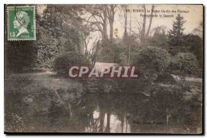 Old Postcard Rennes Tabor (garden plants) Landscape Near Cascade