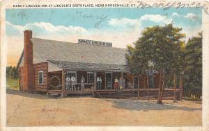 D96/ Hodgenville Kentucky Ky Postcard 1935 Nancy Lincoln Inn People