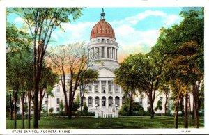 Maine Augusta State Capitol Building Curteich