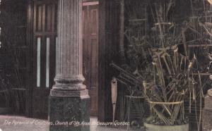 The Pyramid Of Crutches, Church Of Ste. Anne De Beaupre, Quebec, Canada, 1900...