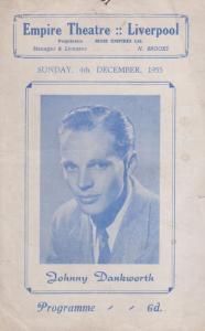 Johnny Dankworth 1955 Empire Musical Theatre Liverpool Programme