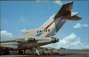 San Francisco CA United Airlines Airplane Airport VINTAGE Postcard