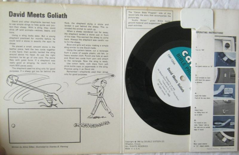 Vintage David Meets Goliath Canon Bible Program For GE Show N Tell 1966