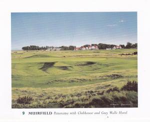 Post Card Scotland East Lothian Gullane Muirfield (9) Golf Course