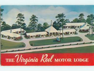 Unused 1950's VIRGINIA REEL MOTOR LODGE MOTEL South Norfolk Virginia VA u7119-33