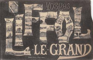 Liffol-le-Grand Vosges France~Large Letter City Scenes~B&W 1919 Postcard