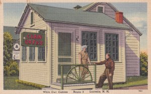 LACONIA, New Hampshire, 1930-1940's; White Owl Cabins, Cabin Office