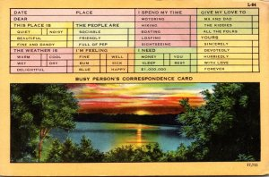 Humour Busy Person's Correspondence Card