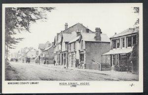 Berkshire Postcard - High Street, Ascot, c.1903 - Pamlin Prints R306