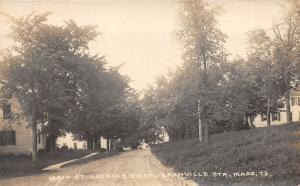 Granville Center Massachusetts~Main Street East~Residential Area~Vintage RPPC