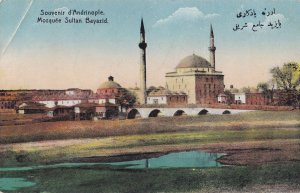 D'Andrinople Mosque Mosquee Sultan Bayazid Turkey Old Postcard