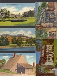 NH Lot 5 Buildings PORTSMOUTH NEW HAMPSHIRE Postcard PC