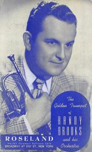 New York NY Roseland Ballroom Cafe Golden Trumpet Randy Brooks Postcard