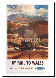Modern Postcard By rail to Wales