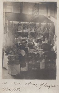 Town Hall Fete Bazaar Stall Market Trader Hippy Scarves 1908 Social History P...