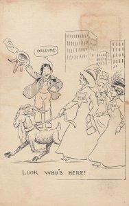SIOUX CITY , Iowa, 1901-07 ; P.E.O. Women led by goat