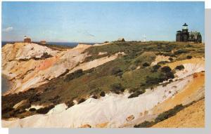 Martha's Vineyard, Mass/MA Postcard, Gay Head Light/Cape Cod