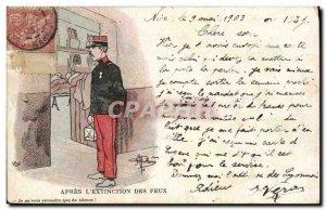 Old Postcard Militaria After the & # 39extinction fires