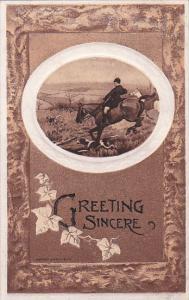 Fox Hunting Greeting Sincere , PU-1910