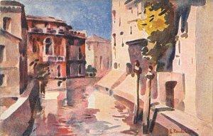 Italy, Venezia, Rio delle Marauegie,  artist signed