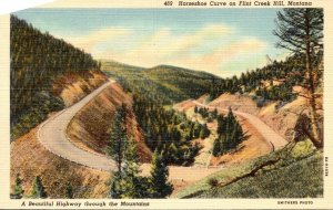 Montana Flint Creek Hill Horseshoe Curve Curteich