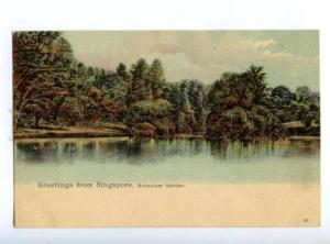 147142 SINGAPORE Botanic Garden Vintage undivided back pc