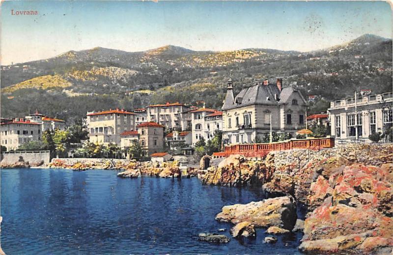 Croatia Lovrana, Lovran paysage, landscape 1913