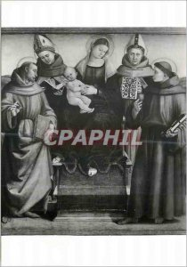 Postcard Modern Cortona 650 m Madonna with Jesus The Saints (L Singorelli) Mu...