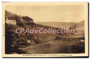Postcard Old Saint-Jouin-Bruneval The Clocheton And Descent