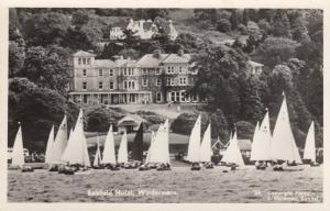 RP, Belsfield Hotel, Windermere, England, UK, 1920-1940s; Sailboats