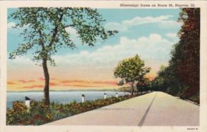 Illinois Nauvoo Mississippi Scene On Route 96 Curteich