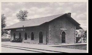 Michigan Dearborn Greenfield Village Smiths Creek Railroad Depot Curteich