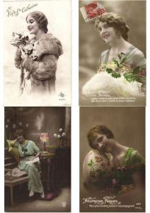 LADIES ROMANTIC GLAMOUR REAL PHOTO 2000 CPA
