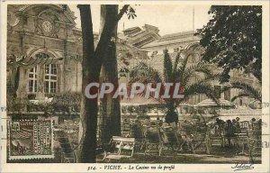 Postcard Old Casino Vichy seen profile