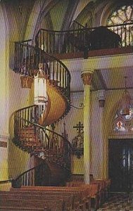 New Mexico Santa Fe Famous Stairway Our Lady Of The Light Chapel