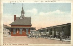 Leominster MA RR Train Station NYNH&H c1920 Postcard