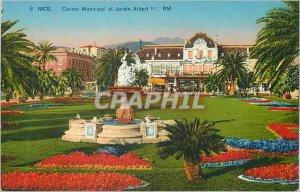 Postcard Old Nice Municipal Casino and Albert 1st Gardens