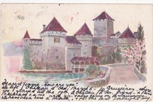 Chillon by artists J J Redmond , Switzerland , PU-1906