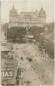 Albany NY Trolley Street View RPPC Real Photo Postcard