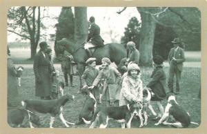Nostalgia Postcard Craven Hunt, Baydon Manor 1931 Reproduction Card NS57