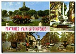 Modern Postcard Aix en Provence Fountains