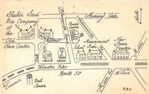 G24/ Mariemont Ohio Postcard 1987 Shaker Seend Box Company Map