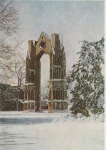 Norfolk Postcard - The Arch in The Snow, Walsingham   RR9439